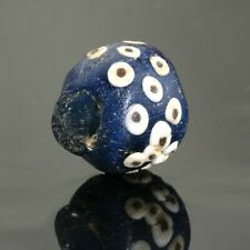 Ancient glass beads: genuine Roman glass eye bead,1 century BCE