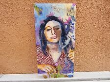 Original Painting On Plastic By New Mexico Artist Great For Window Portrait