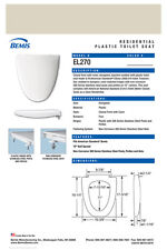 EL270-006 Proprietary Toilet Seat for American Standard - BONE