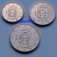 Letland 1, 2 en 5 cent 2014 UNC Direct leverbaar!!