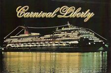 ms CARNIVAL LIBERTY...pc..CCL..cruise ship.... night view