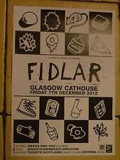 Fidlar live music memorabilia - Glasgow dec.2012 show tour concert gig poster