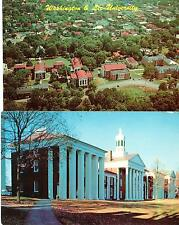 Washington and Lee University VA aerial view card and campus building see Stamp