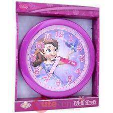 "Disney Sofia The First Wall Clock  9.5"" Watch Sofia Little Princess"