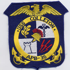 USS Colleton APB 36 - Crest - 5 inch FE BC Patch Cat. No. B846