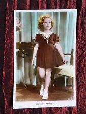 SHIRLEY TEMPLE  FILM STAR   ART COLOUR PHOTO POSTCARD    VG   #41H