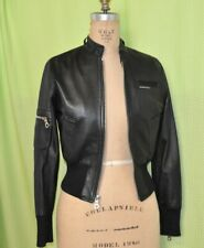Members Only Black Leather Moto Jacket Size 4 Small NWOT