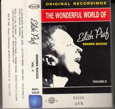 "K 7 AUDIO (TAPE) EDITH PIAF ""THE WONDERFUL WORLD OF EDITH PIAF"" MADE IN PORTUGAL"