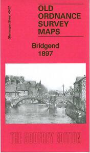 Old Ordnance Survey Map Bridgend 1897 - Glamorgan Sheet 40.07