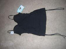 Assets Power Suits Swimsuit Tankini Swim Top Black Size S Black NEW/NWT