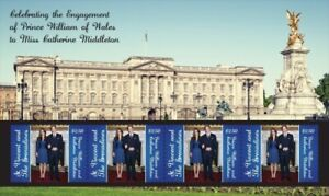St. Vincent 2011 - SC# 3757 Royal Engagement William & Kate - Sheet of 4 - MNH
