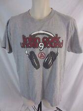 Linkin Park Band Underground 9 Headphones Mens Large Graphic Gray T-Shirt Cb20C
