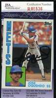 Jose Oquendo 1984 Topps Mets Rookie Jsa Coa Hand Signed Authentic Autographed