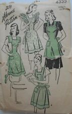 Vintage Advance Pattern #4335 Sm  12-14 APRONS Bibs, Pockets Ruffles Cute Styles