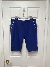 Ep Pro Women's Longer Golf Shorts Size 12 Blue With White Contrasting Trim