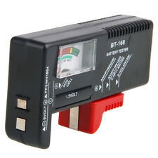 Compact Universal Battery Tester Meter Aa Aaa C D 9V 1.5V Button Size