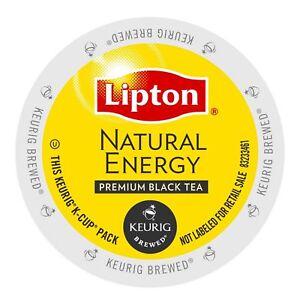 Lipton Natural Energy Premium Black Tea 24 to 144 Keurig K cups Pick Any Size