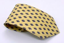 Tie Rack Charleston Tie Yellow Blue Polka Dot 58 x 4 Silk Italy 1700 Ties 4 Sale