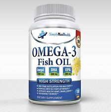 BRAIN POWER+ OMEGA 3 Fish Oil 1500MG EPA 800MG DHA 600MG Amino Acid Plus 180 ct