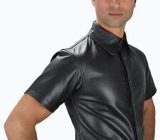 Aw-665 100% originale Pelle Nappa Pelle Camicia Camicia, Soft Leather Shirt en cuir Taglia XL