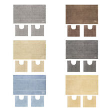 OLIVO.shop -PARURE TEXAS set bagno tappeti cotone coordinati antiscivolo 3 pezzi