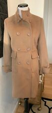 Women's Forever 21 Tan Winter Knee Length Coat Jacket With Buttons M
