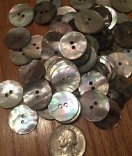 Lot 100 Mother of Pearl Round Shell Sewing Buttons 20mm 0.75 in USA Free Ship