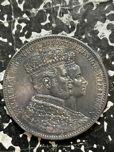 1861-A Germany Prussia 1 Thaler Lot#BG127 Silver! Nice!
