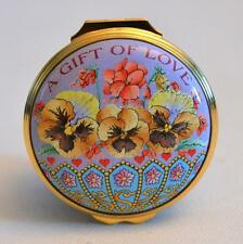 Halcyon Days Enamels A Gift of Love St. Valentines Day 2005 Trinket Box