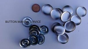 10 X NO 45 WIRE LOOP UPHOLSTERY BUTTONS MADE USING YOUR FABRIC/covering service