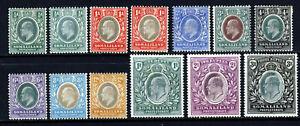 SOMALILAND PROTECTORATE KE VII 1904 Wm Crown CA Set (ex 2a & 5R) SG 32 - 43 MINT