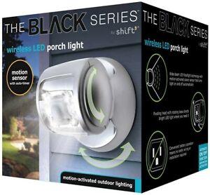 Black Series Wireless LED Solar Porch Light