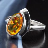 Bernstein Silber 925 Ring 60 (19,1 mm Ø)