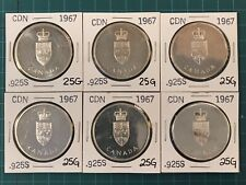 6 - CANADA - 100th Anniversary of Confederation 1867-1967 25g. Sterling Silver