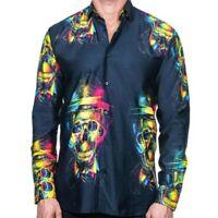 Maceoo Fibonacci Skull Hat Sport Shirt Size M NWT
