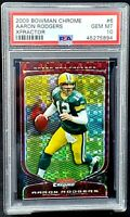 2009 Chrome XFRACTOR Packers AARON RODGERS Card /250 PSA 10 GEM MINT Pop 5