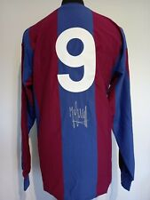 More details for barcelona number 9 home retro shirt signed by johan cruyff with guarantee