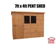 7FT X 4FT PENT GARDEN SHED TOP QUALITY TIMBER