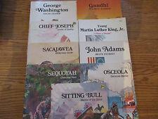 Troll Associates History set (Adams/King/Gandhi/Sacajawea/Washington+)