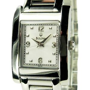BULOVA women's watch Model A3 Stainless steel with White dial (SEE VIDEO)
