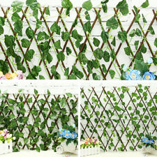 Artificial Begonia Grape Hedge Privacy Fence Screen Greenery Panels Garden Wall