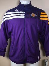 NEW Adidas Los Angeles Lakers On-Court Warm-Up Jacket Purple Youth MEDIUM NWT