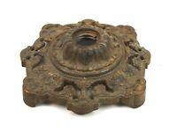 Antique 19th Century Ornate Heavy Cast Iron Art Nouveau Lamp Base