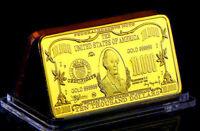 ★★ JOLI MEDAILLE PLAQUéE OR ● USA ● BILLET DE 10000 DOLLARS  ★