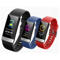 V19 IP68 ECG PPG Blood Pressure Oxygen Monitor Smart Watch Sports Track Bracelet