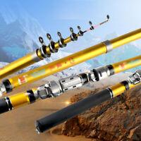 1.8-3.0m Telescopic Fishing Rod Spinning Fish Hand Tackle Sea Carbon Fiber Pole