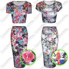 Unbranded Viscose Floral Regular Size Skirts for Women