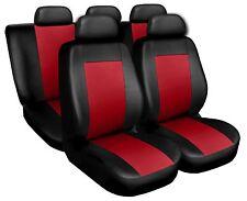 Coprisedili Copri Sedili Salva Sedili adatto per Audi A4 nero-rosso
