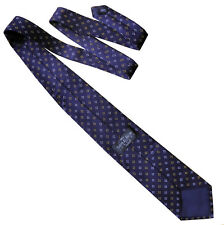 SAVILE ROW LONDON Mens Classic Floral Silk Necktie Tie Navy Blue White - RRP £50
