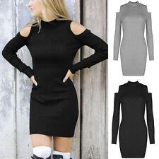 M Langarm Damenkleider aus Baumwollmischung